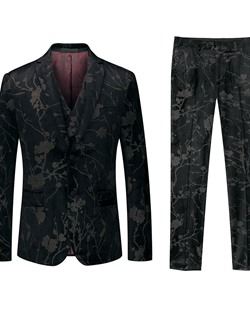 Floral Single-Breasted OL Dress Suit