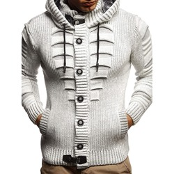 Standard Button Hooded Single-Breasted Winter Sweater