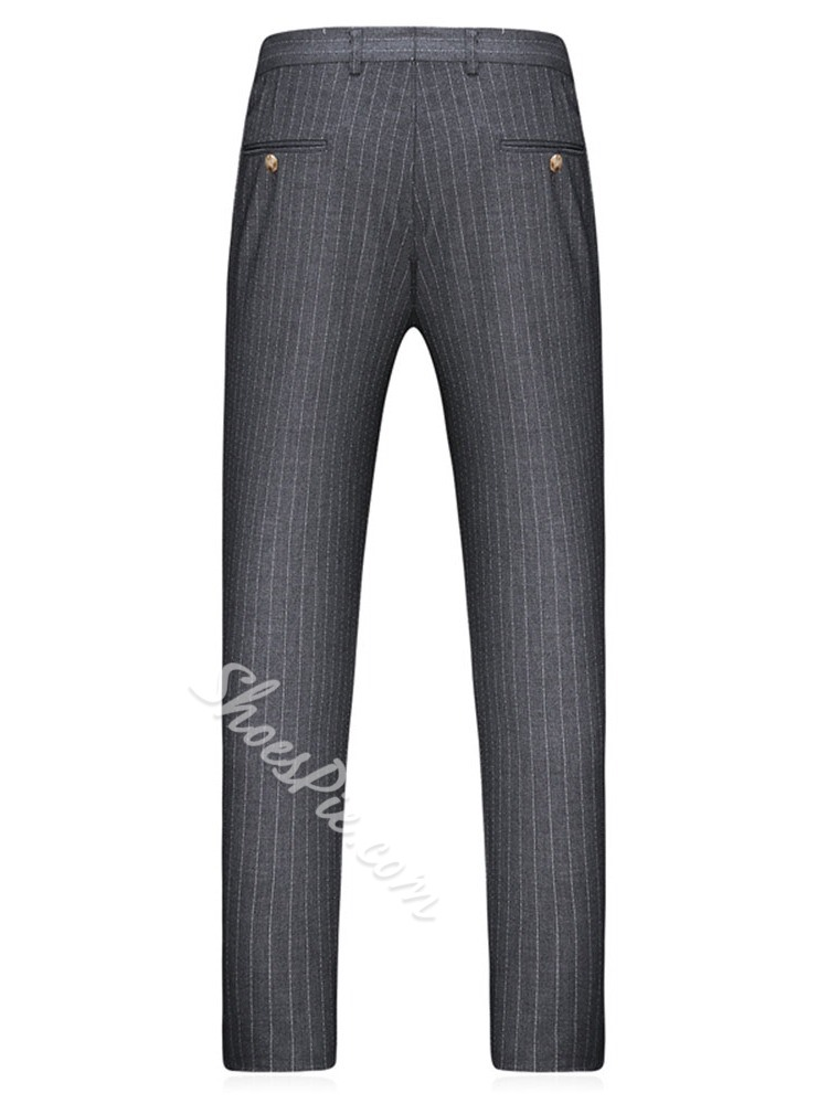 Double-Breasted Pants European Dress Suit