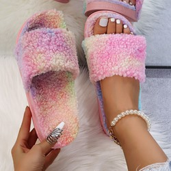 Shoespie Sexy Flat With Slip-On Flip Flop Rainbow Slippers