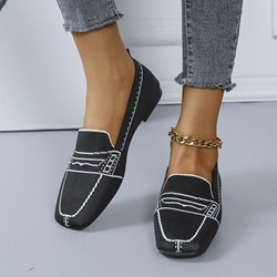 Shoespie Stylish Flat With Thread Round Toe Western Thin Shoes