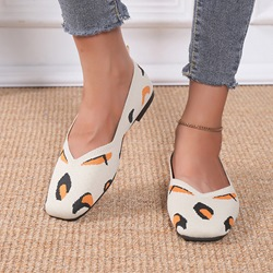 Shoespie Trendy Embroidery Round Toe Slip-On Casual Thin Shoes