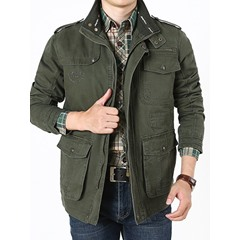 Pocket Stand Collar Fall Casual Jacket