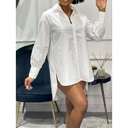 Above Knee Button Long Sleeve Single-Breasted Women's Shirt Dress