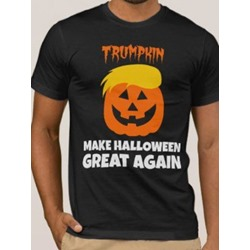 Halloween Casual Print Round Neck Pullover Short Sleeve T-shirt