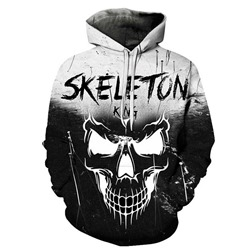 Halloween Print Pullover Letter Loose Pullover Hoodies