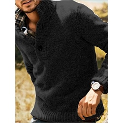 Double-Layer Plaid Standard Fall Casual Sweater