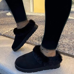 Shoespie Trendy Flat With Plain Slip-On Korean Boots