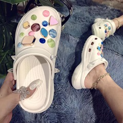 Shoespie Trendy Closed Toe Flat With Slip-On PVC Slippers