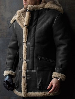 Mid-Length Hooded Plain Single-Breasted Down Jacket