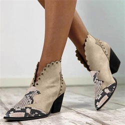 Shoespie Sexy Chunky Heel Slip-On Pointed Toe Western Thin Shoes