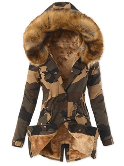 Single-Breasted Button Thick Mid-Length Women's Cotton Padded Jacket