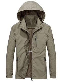 Thin Plain Double-Layer Casual Spring Jacket