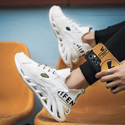 Shoespie Lace-Up Sports Low-Cut Upper Print Sneakers