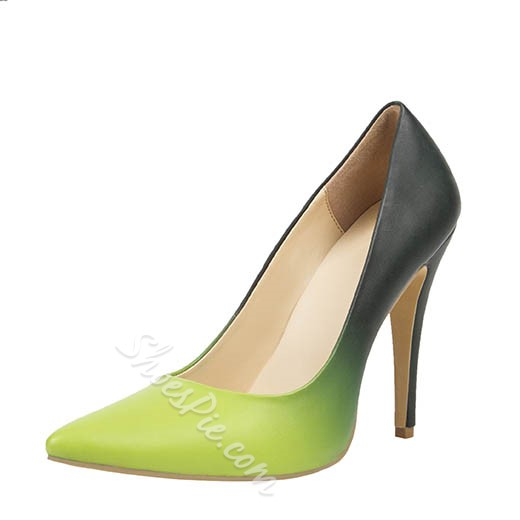 Shoespie Patent Leather Gradually Changing Color Stiletto Heels