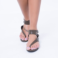 Shoespie Buckle Thong Flat Sandals