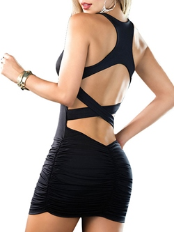 Shoespie Backless Strap Bodycon Dress