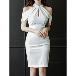 Shoespie Sheath Off Shoulder Bodycon Dress