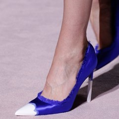 Shoespie Slip-On Pointed Toe Color Block Patchwork Stiletto Heel