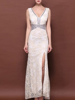 ShoespieLace BanquetBridal Sleeveless Bodycon Dress
