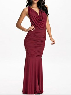 Shoespie Banquet Floor-Length Sleeveless Bodycon Dress
