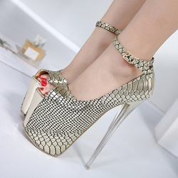 Shoespie Peep Toe Platform Banquet Stiletto Heel shoespie