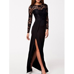 ShoespieAsymmetrical Banquet Floor-LengthLong Sleeve Bodycon Dress