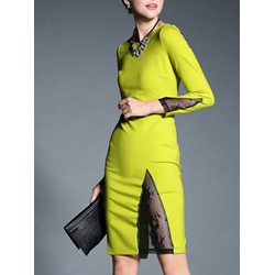 Shoespie Round Neck Asymmetrical Bodycon Dress