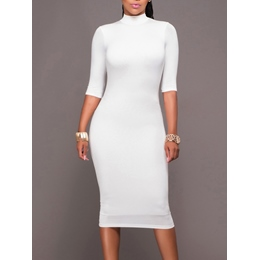 Shoespie Backless Half Sleeve Bodycon Dress