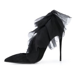 Shoespie Black Patchwork Plain Stiletto Heels