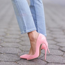 Shoespie Pink OL Style Pointed-toe Stiletto Heels
