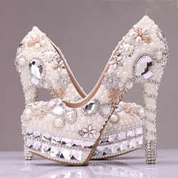 Pearl & Rhinestone Design Bridal Shoes