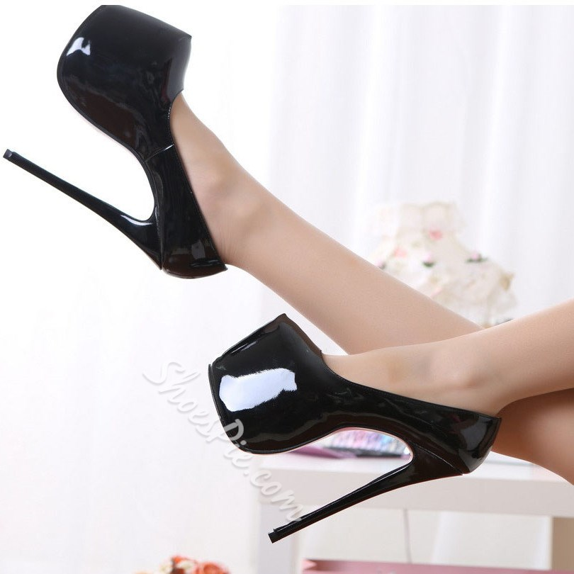 Stylish Candy Color Platform Heels