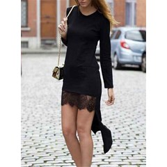 Shoepsie Asymmetrical Long Sleeve Bodycon Dress