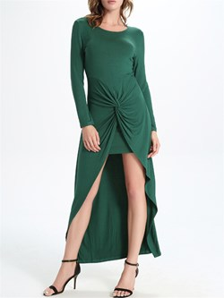 ShoespieAsymmetrical Ankle-Length V-Neck Bodycon Dress