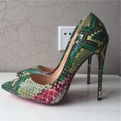 Shoespie Sexy Serpentine Low-Cut Upper Stiletto Heels