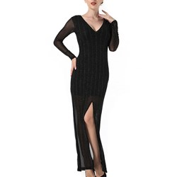 Shoespie Floor-Length V-Neck Sexy Bodycon Dress