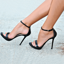 Sexy Line-Style Buckle Stiletto Heel Sandals