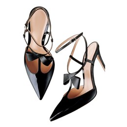 Shoespie Black Bowtie Pointed Toe Stiletto Heels