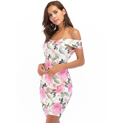 Summer Floral Print Bodycon Dresses