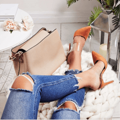 Shoespie Jelly Stiletto Heel Slip-On Mules Shoes