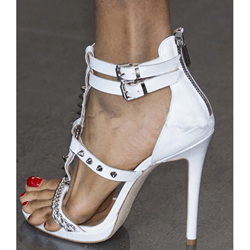 Shoespie Sexy Rivet Buckle Open Toe Stiletto Heel Sandals