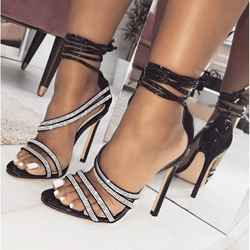 Shoespie Sexy Open Toe Stiletto Heel Lace-Up Sandals