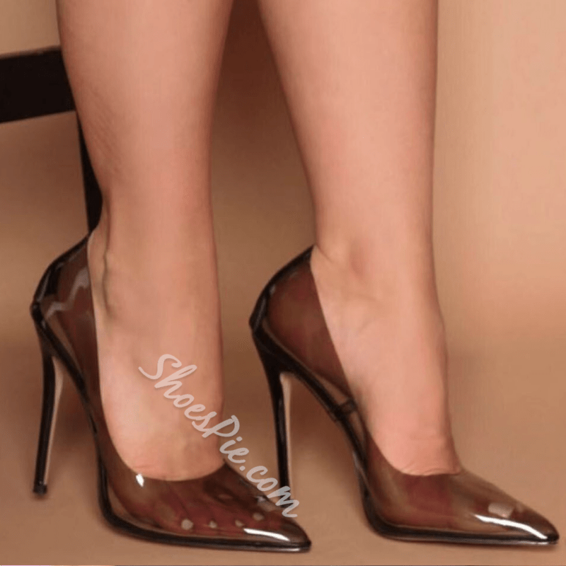 Shoespie Sexy See-Through Pointed Toe Stiletto Heels