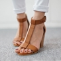 Shoespie Sexy Heel Covering Buckle Open Toe Low Cut Sandals