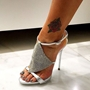 Shoespie Sexy Heel Covering Line-Style Buckle Open Toe Dress Sandals