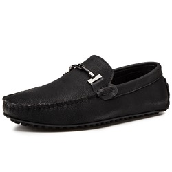 Shoespie Black Drving Casual Men's Loafers