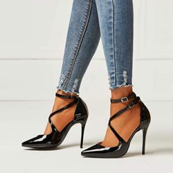 Shoespie Pointed Toe Sexy Black Stiletto Heels