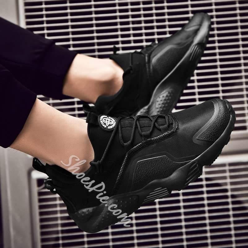 Shoespie Lace-Up Large Size Mesh Sneakers
