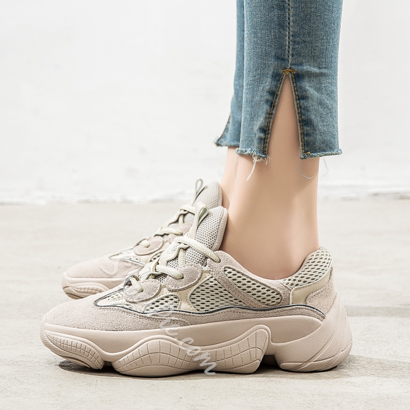 Shoespie Platform Lace-Up Casual Chunky Sneakers